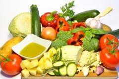 Raw organic vegetables, healthy diet food. Raw organic vegetables, healthy food Royalty Free Stock Photos