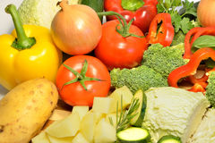 Raw organic vegetables, healthy diet food. Raw organic vegetables, healthy food Royalty Free Stock Photography