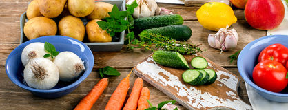 Raw organic vegetables. Healthy Food background. Royalty Free Stock Images
