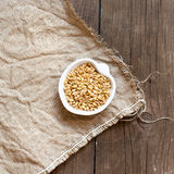 Raw Organic wheat grain Royalty Free Stock Photos