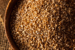 Raw Organic Whole Grain Cracked Wheat Stock Image
