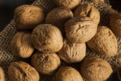 Raw Organic Whole Walnuts Royalty Free Stock Images