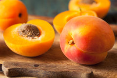 Raw Organic Yellow Apricots Royalty Free Stock Image