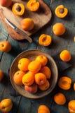 Raw Organic Yellow Apricots Stock Photos