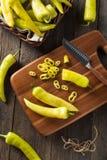 Raw Organic Yellow Banana Peppers Royalty Free Stock Photos
