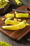 Raw Organic Yellow Banana Peppers Royalty Free Stock Photo