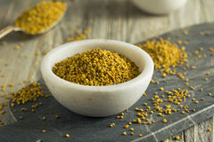 Raw Organic Yellow Bee Pollen Stock Photo