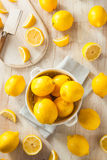 Raw Organic Yellow Lemons Royalty Free Stock Image