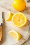 Raw Organic Yellow Lemons Stock Photo