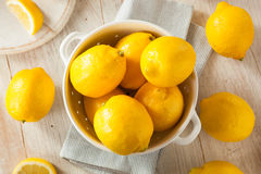 Raw Organic Yellow Lemons. Citrus Ready to Use Royalty Free Stock Photography