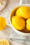 Raw Organic Yellow Lemons Royalty Free Stock Photo