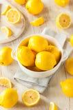 Raw Organic Yellow Lemons Stock Photography