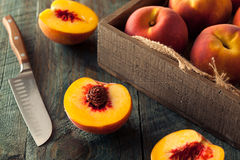 Raw Organic Yellow Peaches Stock Images