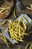 Raw Organic Yellow Wax Beans Royalty Free Stock Photos