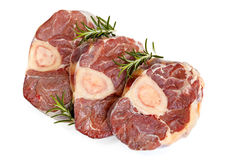 Raw Osso Bucco Veal Shanks Top View Isolated Royalty Free Stock Photo