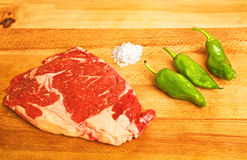 Raw ox chop Stock Photo