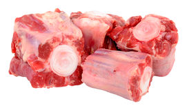 Raw Oxtail Bones Stock Photos
