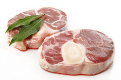 Free Raw Oxtail With Bay Leaf Royalty Free Stock Images - 44597489
