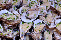 Raw Oyster for toast Royalty Free Stock Photo
