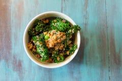Raw Paleo Kale and Quinoa Superfood Salad Stock Photos