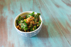 Raw Paleo Kale and Quinoa Superfood Salad Stock Photography