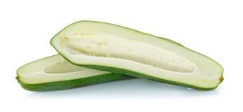 Raw papaya isolated on the white background Royalty Free Stock Images