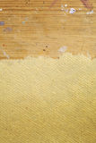 Raw paper on wooden background. Raw paper on wooden stained background Stock Photo