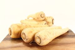 Raw parsnips Royalty Free Stock Photos