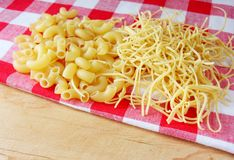 Raw pasta Stock Image