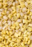 Raw pasta background Stock Images