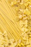 Raw pasta background Stock Photos