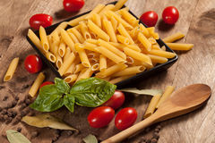 Raw pasta. Royalty Free Stock Images