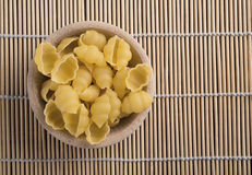 Raw pasta called conchiglie Royalty Free Stock Photo