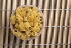 Raw pasta called ditali Royalty Free Stock Photography