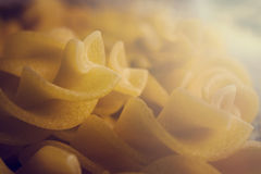 Raw pasta Stock Photography