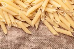 Raw the pasta closeup Stock Photography