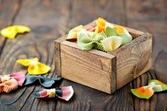 Raw pasta Stock Photography