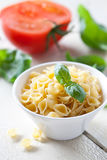 Raw Pasta Conchiglie Royalty Free Stock Photo