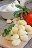 Raw pasta dumplings Stock Images