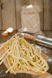 Raw pasta with flour Royalty Free Stock Photos