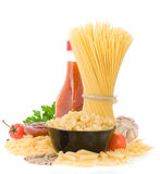 Raw pasta and food ingredient Royalty Free Stock Photos
