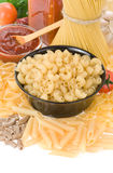 Raw pasta and food ingredient Stock Photo