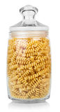 Raw Pasta in glass Royalty Free Stock Photo