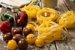 Raw pasta Royalty Free Stock Photography
