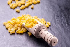 Raw pasta and ingredients Royalty Free Stock Photography