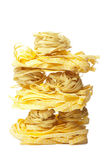 Raw pasta  isolated Stock Photography