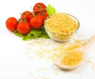 Raw pasta isolated on white background Royalty Free Stock Image