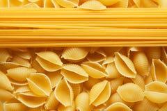 Raw pasta lines Stock Photography