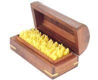 Raw Pasta , Penne. In a box on White Back Ground Stock Image