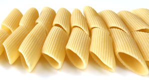 Raw pasta rows Stock Images